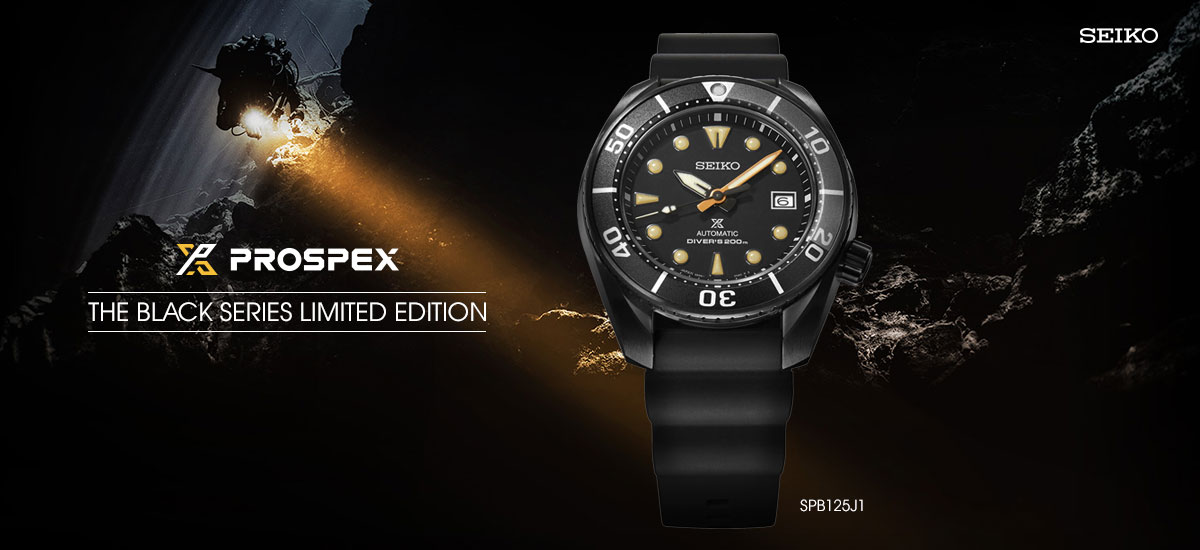 Seiko Prospex SPB125J1 Automatic Black Series Divers 200M Water Resistance LIMITED EDITION