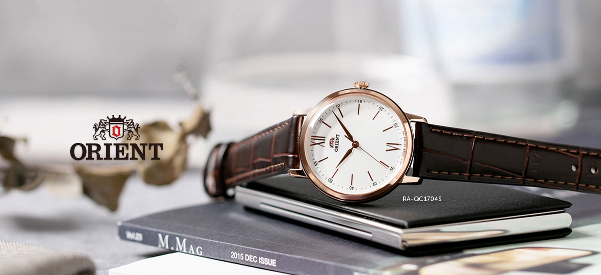 Orient RA-QC1704S Ladies Silver Dial Brown Leather Strap