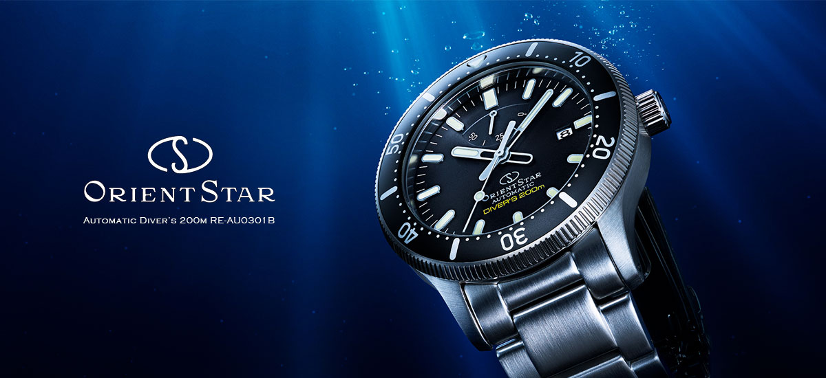 Orient Star RE-AU0301B Automatic Men Black Dial Stainless Steel Strap
