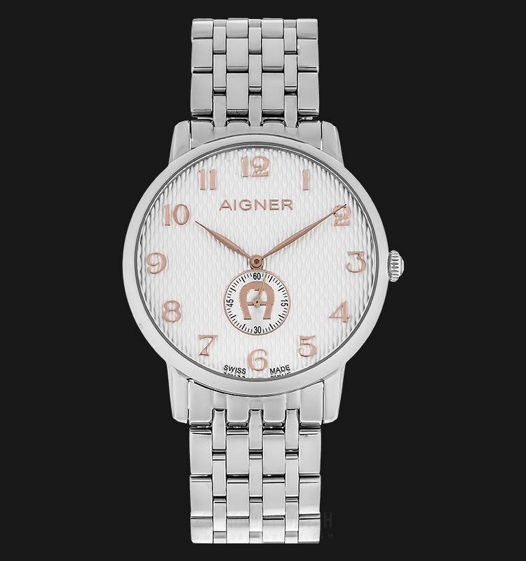 Aigner A04116A Men Silver Dial Stainless Steel Strap Machtwatch