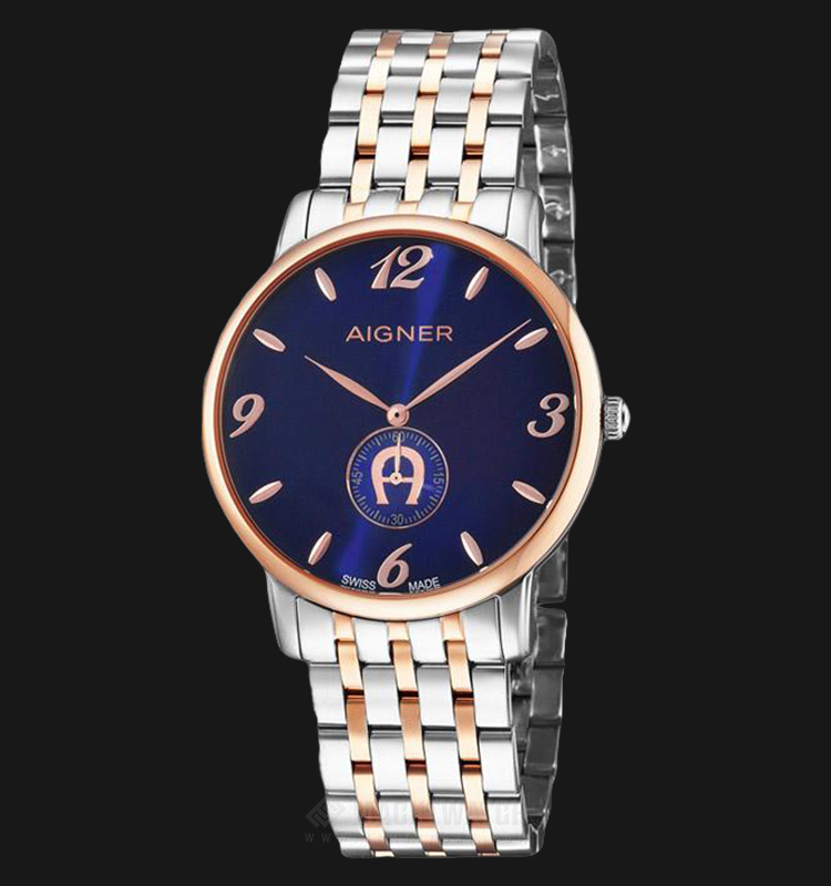 Aigner Viarregio A04121A Men Blue Dial Dual Tone Stainless Steel Strap Machtwatch
