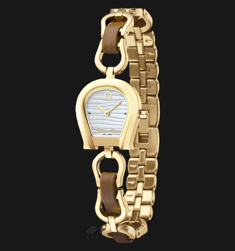 Aigner Perugina A07232 Ladies White Dial Gold Stainless Steel Strap Machtwatch