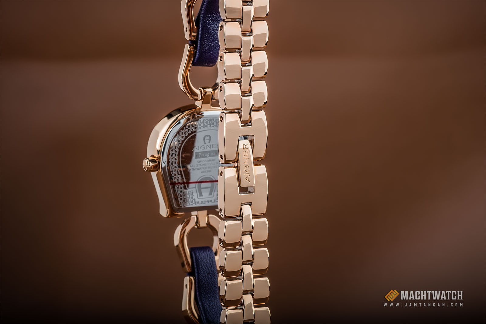 Aigner A07234 Ladies Silver Dial Rose Gold Stainless Steel Strap Machtwatch