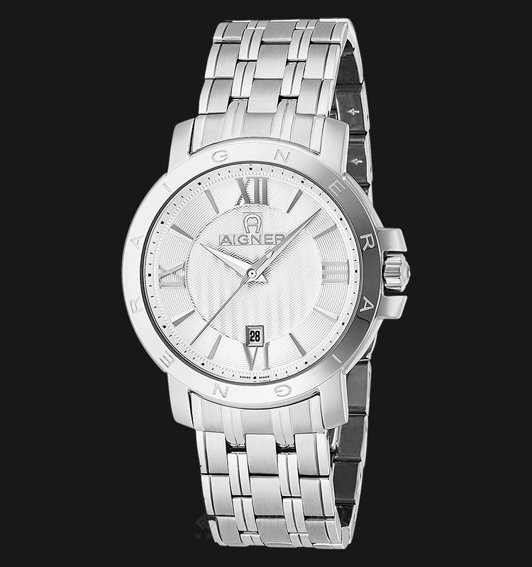 Aigner Triento A09114 Men Silver Dial Stainless Steel Strap Machtwatch