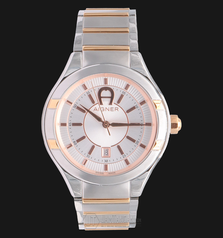 Aigner Cortina A102104 Stainless Steel Dual-tone White Dial Machtwatch