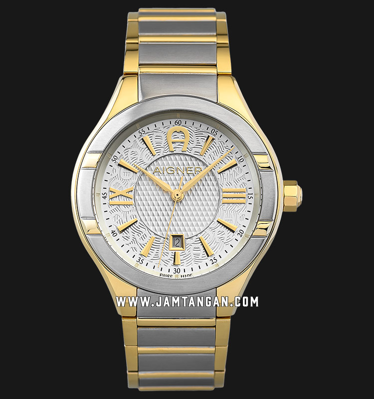 Aigner Lonato A102109 Men Silver Dial Dual Tone Stainless Steel Strap Machtwatch