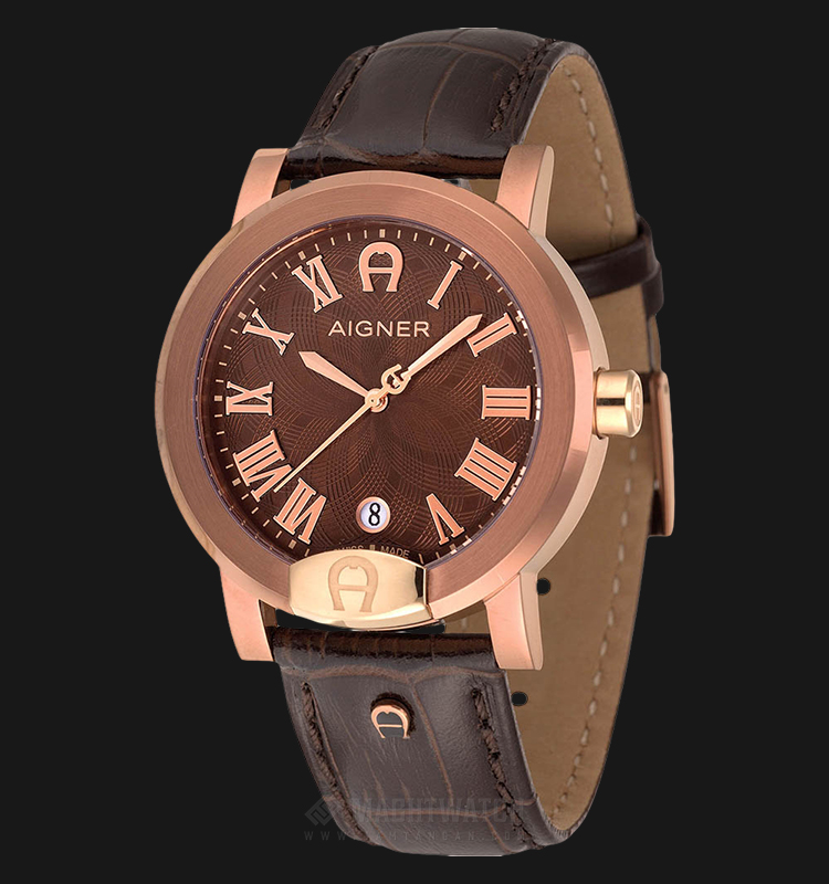 Aigner Treviglio A103108 Men Brown Dial Brown Leather Strap Machtwatch
