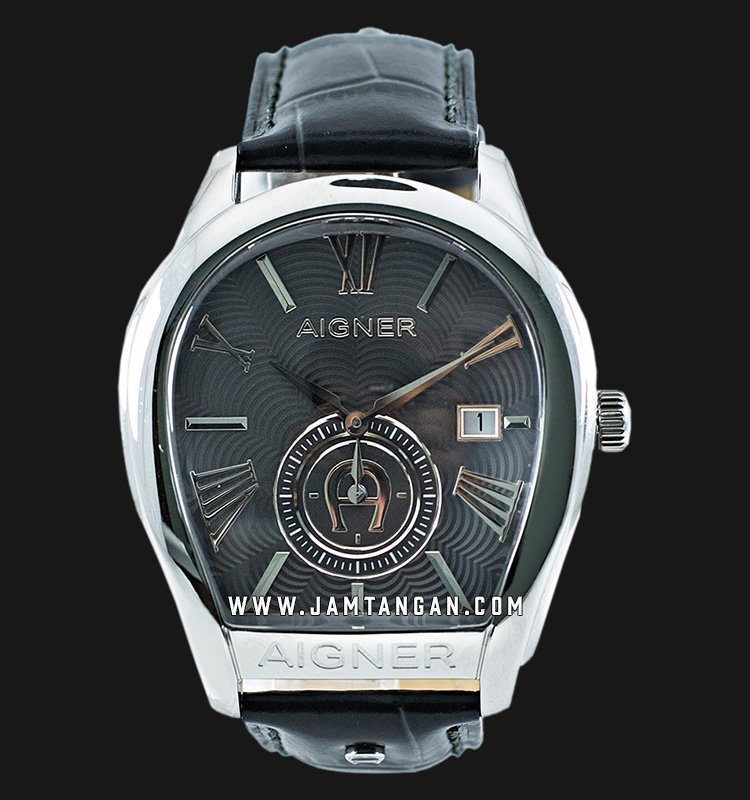 Aigner Milano A131102 Men Grey Dial Grey Leather Strap Machtwatch