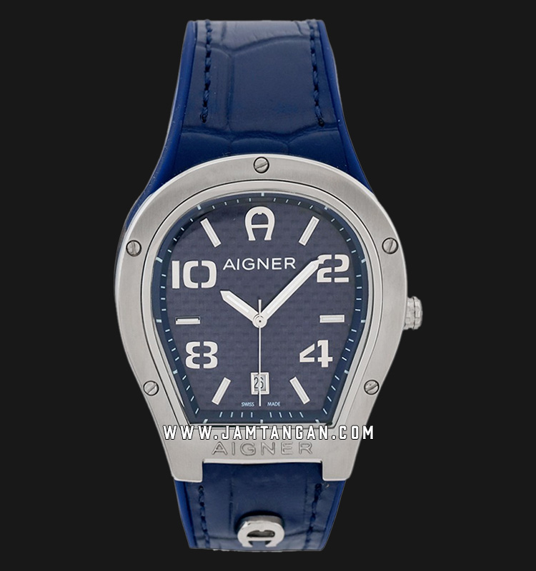 Aigner Roma A136107 Men Blue Dial Blue Leather Strap Machtwatch