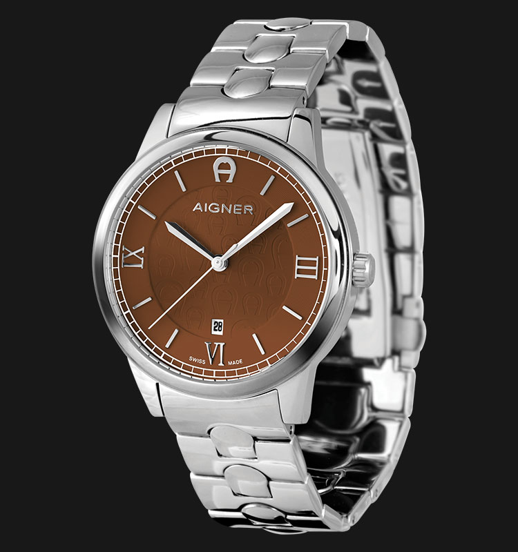 Aigner Monopoli A24049A Brown Dial Stainless Steel Bracelet Machtwatch