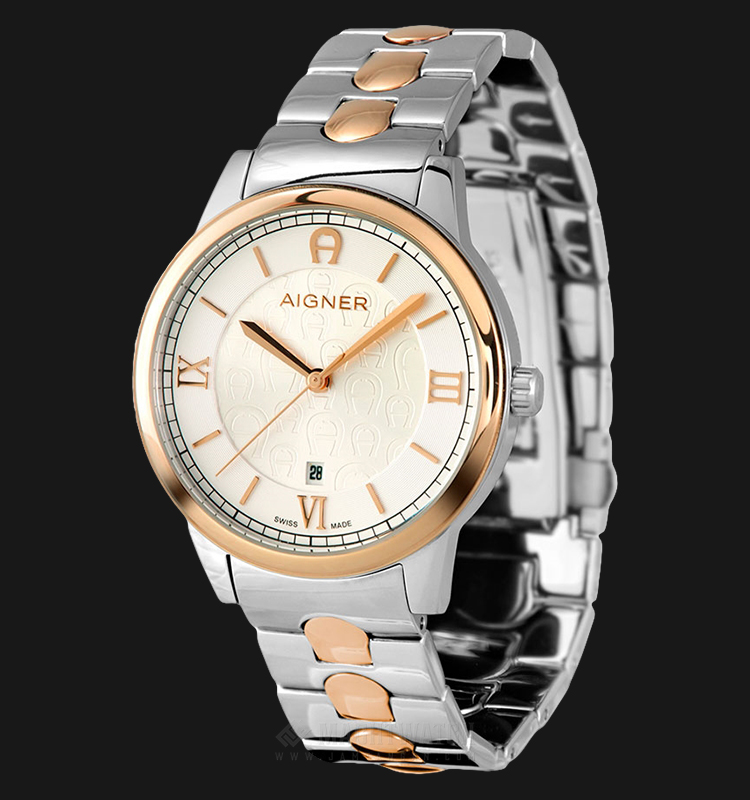 Aigner Monopoli A24050 Men Silver Dial Dual Tone Stainless Steel Strap Machtwatch