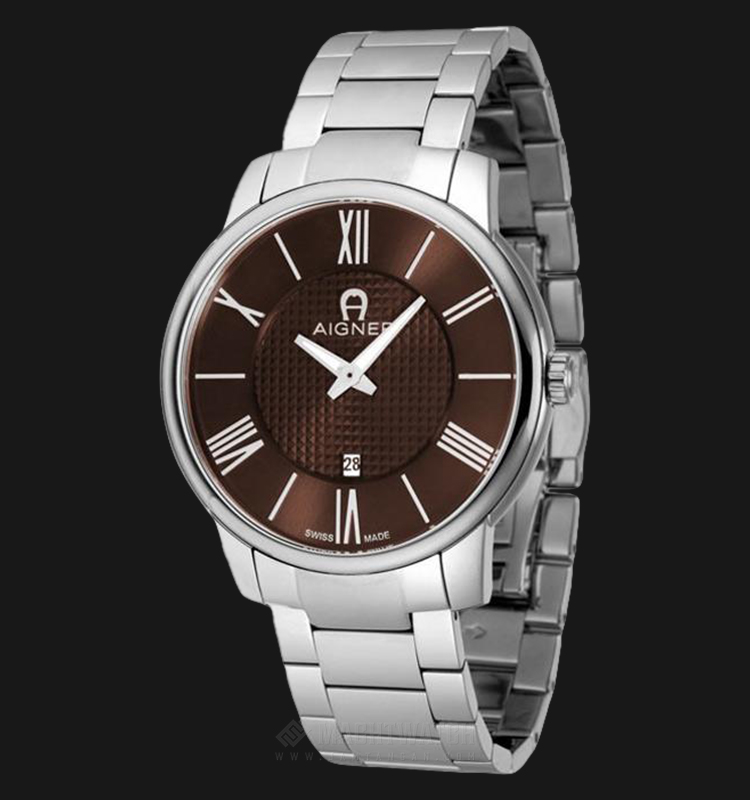 Aigner Padua A24055 Men Brown Pattern Dial Stainless Steel Strap Machtwatch