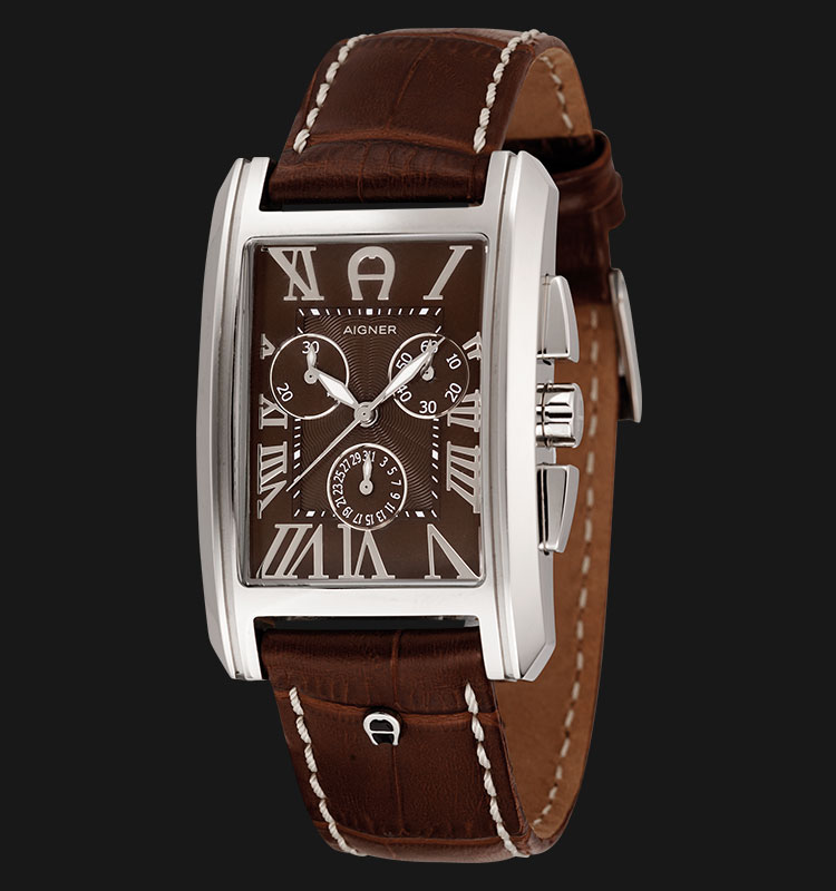 Aigner A24114A Leather Strap with Black Dial Machtwatch