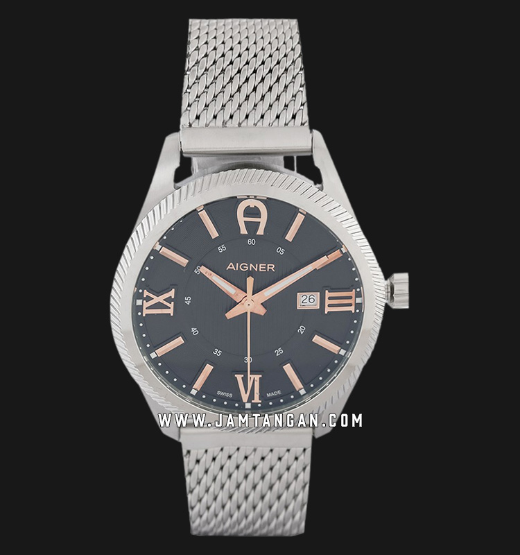 Aigner Imola A24143C Men Black Dial Stainless Steel Strap Machtwatch