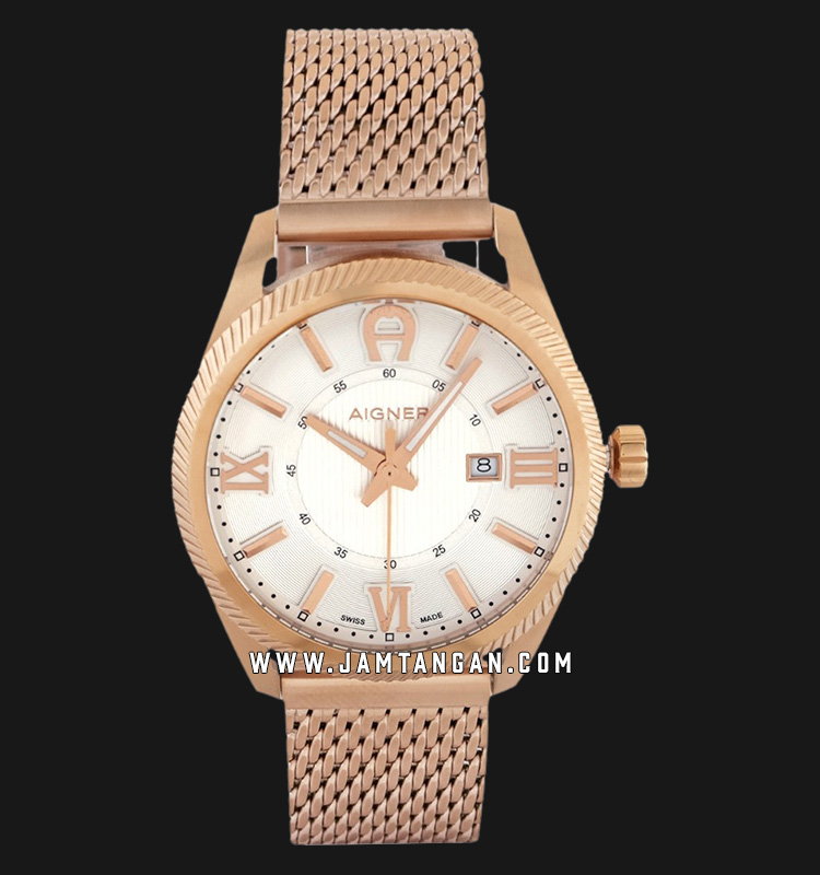 Aigner Imola A24145C Men White Dial Rose Gold Stainless Steel Strap Machtwatch