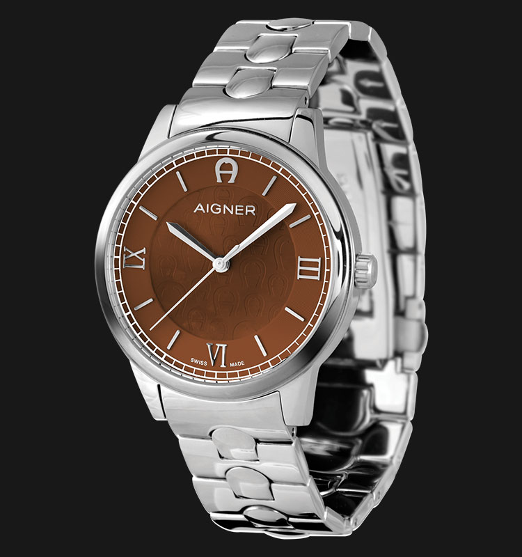 Aigner Monopoli A24249A Brown Dial Stainless Steel Bracelet Machtwatch