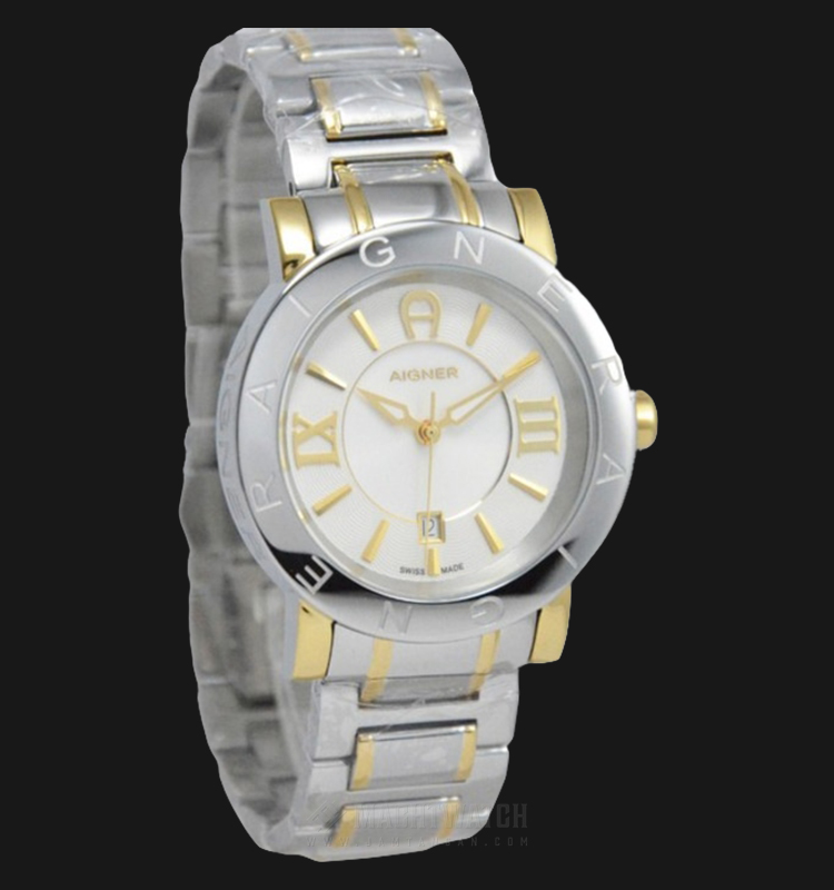 Aigner Cortina A26081 Men White Dial Dual Tone Stainless Steel Strap Machtwatch