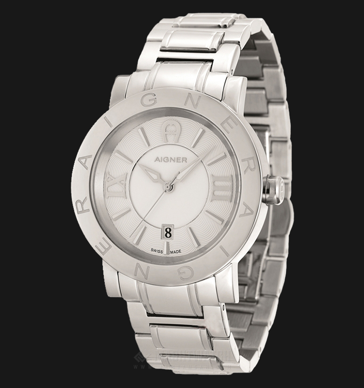 Aigner Cortina A26082 Men Silver Dial Stainless Steel Strap Machtwatch
