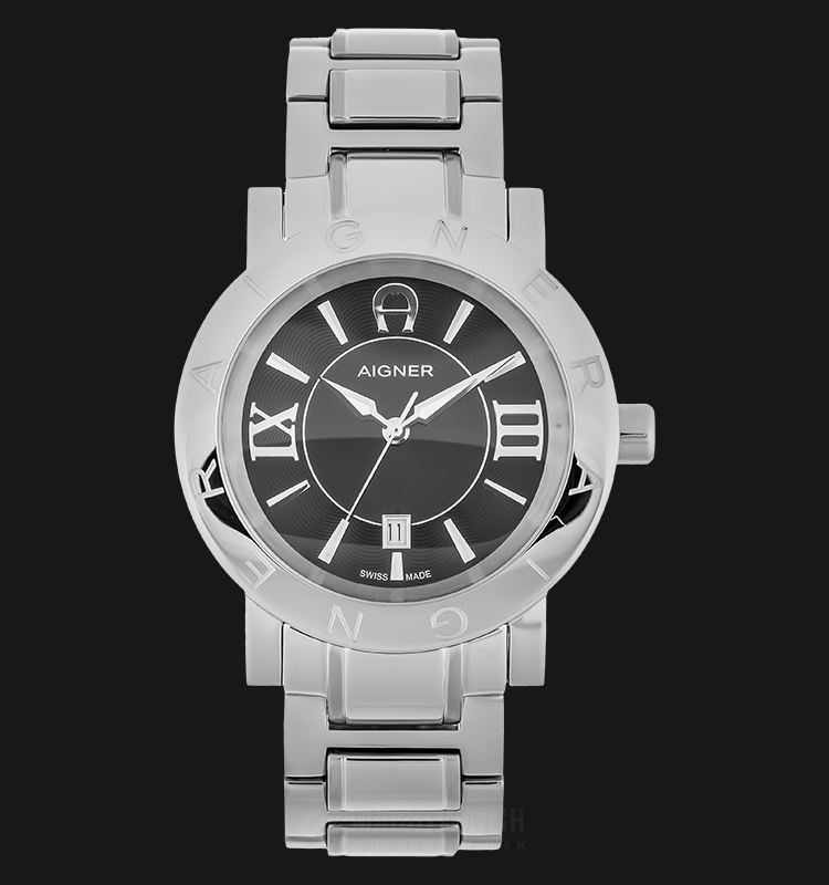 Aigner A26096 Men Black Dial Stainless Steel Strap Machtwatch