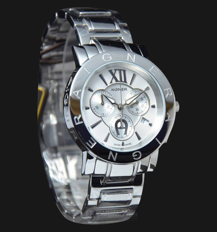 Aigner Cortina A26518 Chronograph Stainless Steel White Dial Machtwatch
