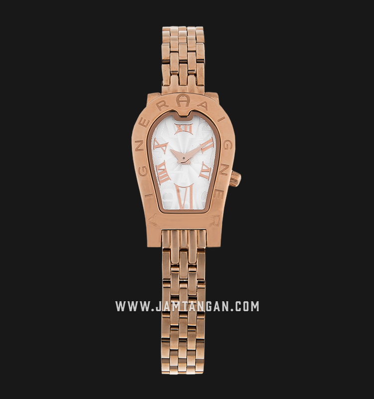 Aigner Olbia II A29340 Ladies Silver Dial Gold Stainless Steel Machtwatch