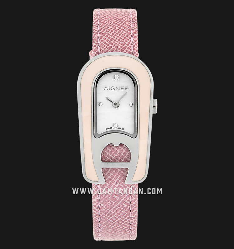 Aigner Aprillia A30213 Mother of Pearl Dial Pink Genuine Leather Strap Machtwatch