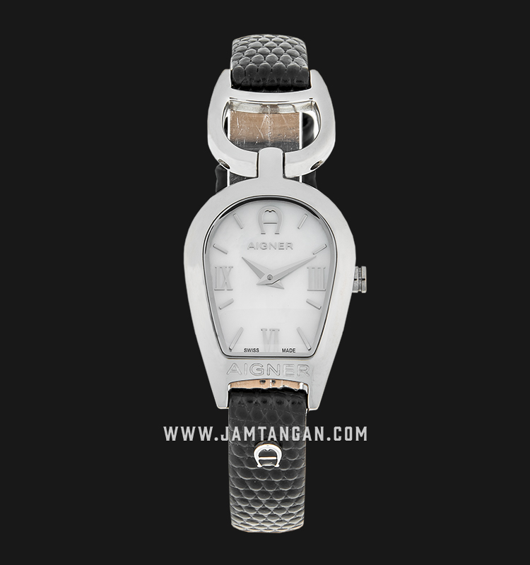 Aigner Arte III A32241 Mother of Pearl Dial Extra Genuine Leather Strap Machtwatch