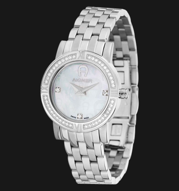 Aigner Ragusa A32261 Mother of Pearl Dial Stainless Steel Bracelet Machtwatch