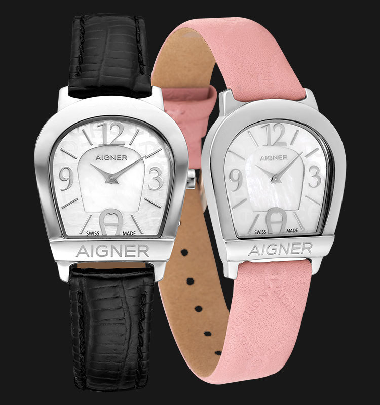 Aigner Amalfi II A32268B Mother of Pearl Dial Extra Genuine Leather Strap Machtwatch