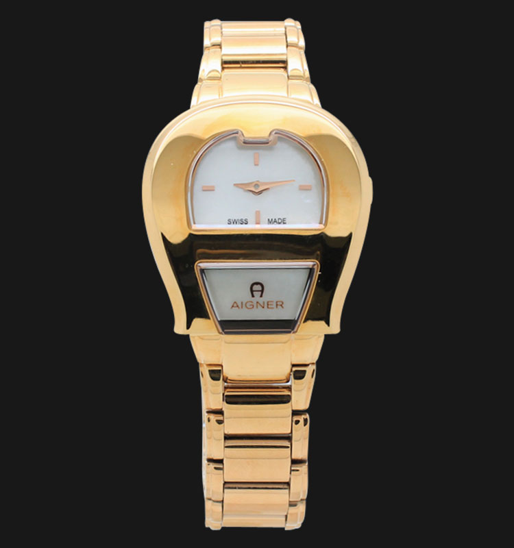 Aigner Venezia Small A39601 Mother of Pearl Dial Rose Gold Stainless Steel Machtwatch