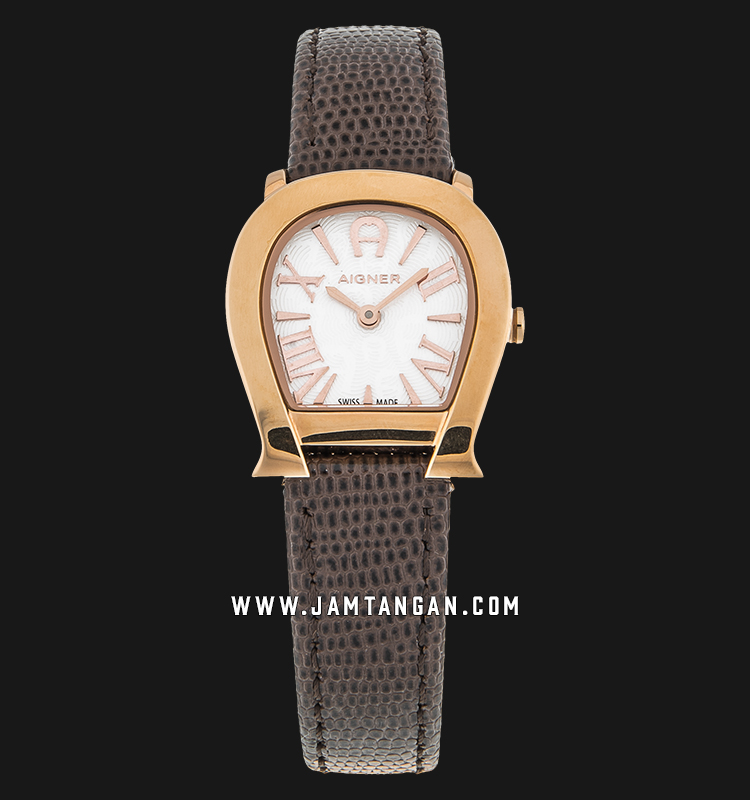 Aigner Varese A45211 Silver Dial Brown Genuine Leather Strap Machtwatch