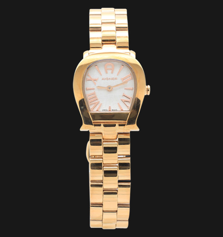 Aigner Varese A45610 White Dial Rose Gold Plated Stainless Steel Machtwatch