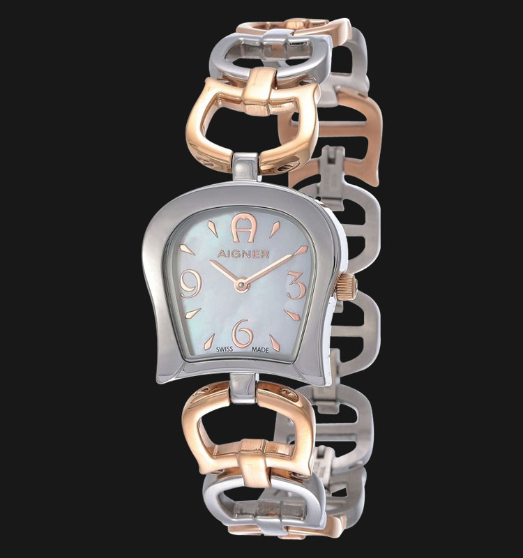 Aigner Casoria A46607 Mother of Pearl Dial Two Tone Rose Gold Stainless Steel Machtwatch