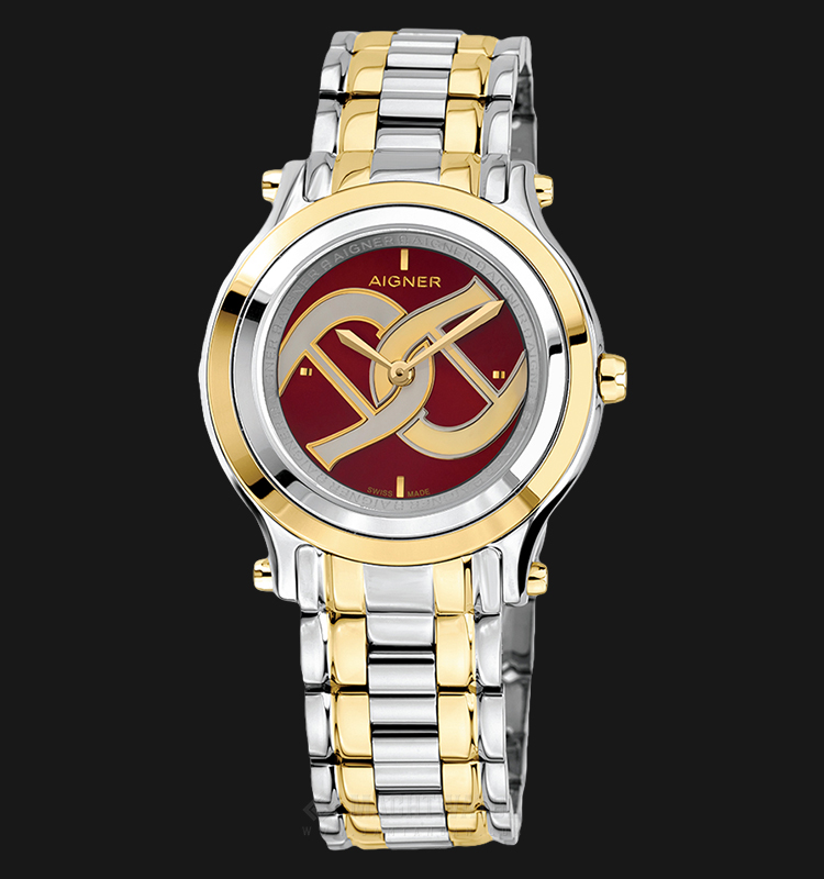 Aigner Bologna A55217 Ladies Brown Dial Dual Tone Stainless Steel Strap Machtwatch
