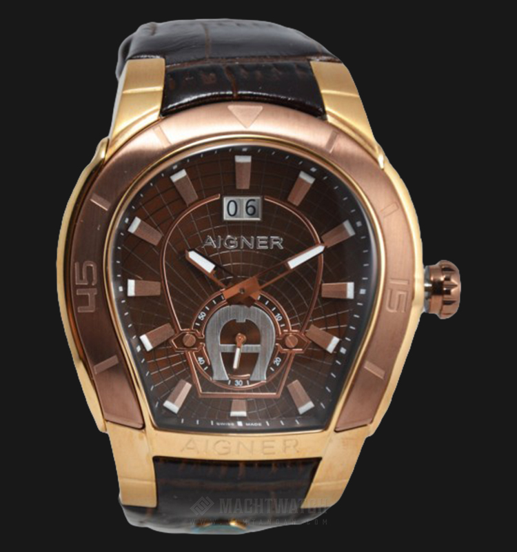 Aigner Palermo A58104 Men Brown Dial Brown Leather Strap Machtwatch