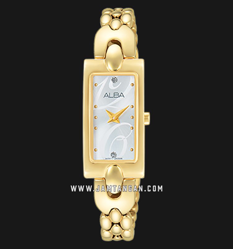 Alba AEGD38X1 Light Gold Dial Gold Stainless Steel Machtwatch