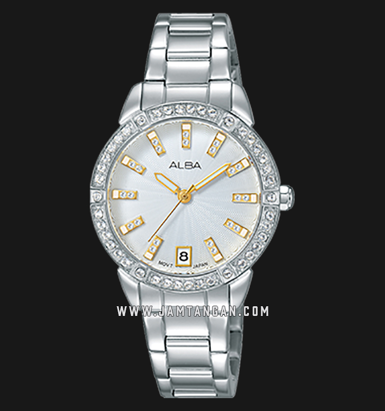 Alba AG8H07X1 White Dial Stainless Steel Machtwatch