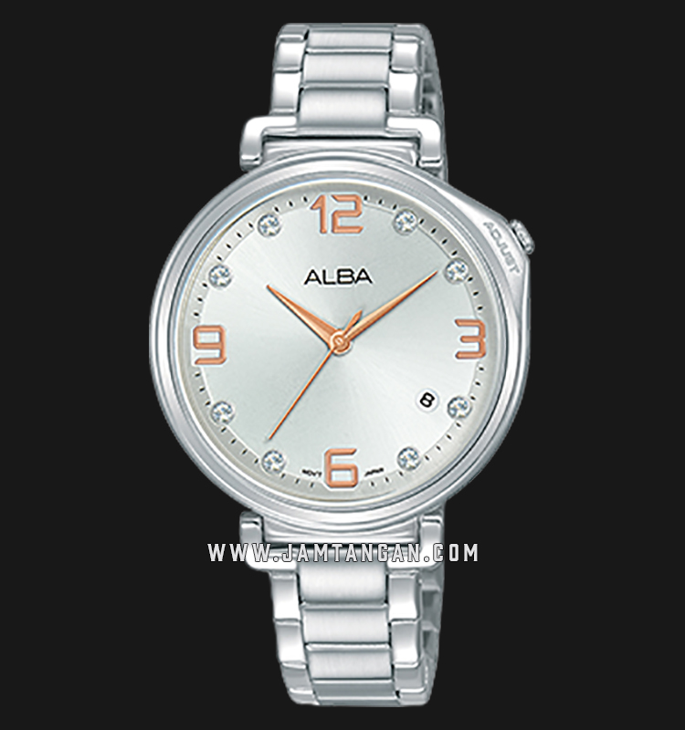 Alba AG8J27X1 Silver Dial Stainless Steel Machtwatch