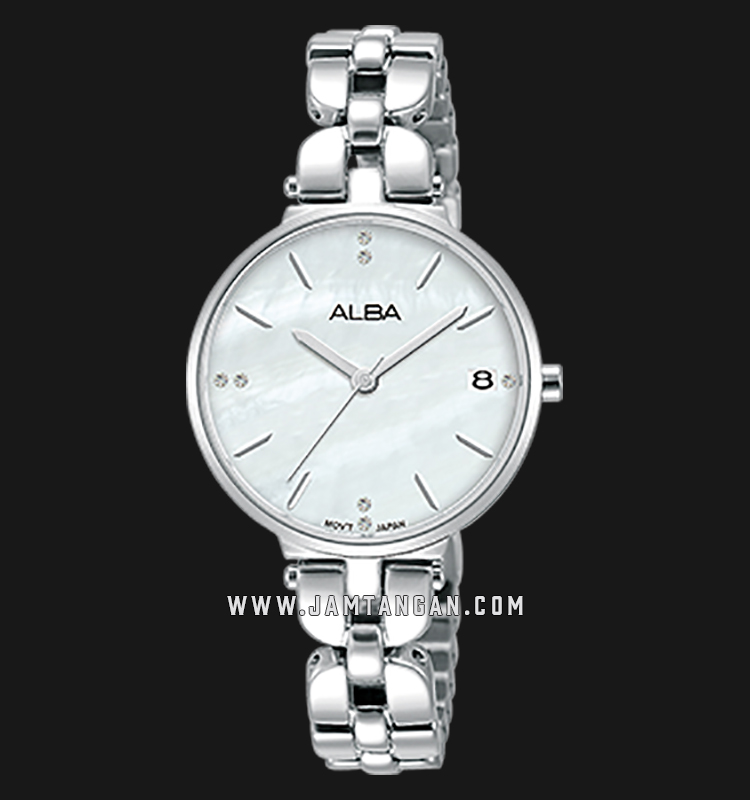 Alba AG8J51X1 Ladies Mother of Pearl Dial Stainless Steel Machtwatch