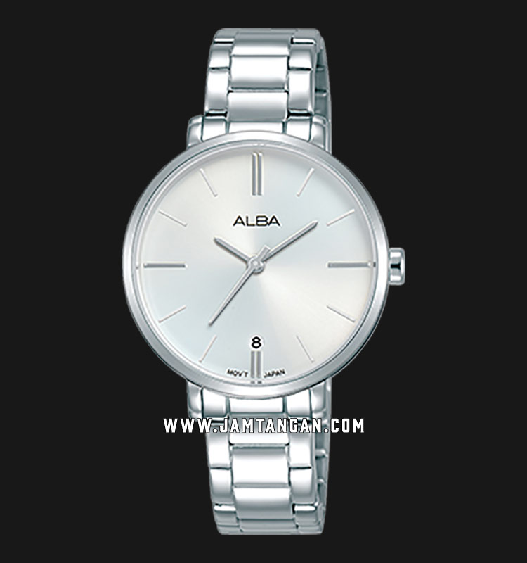 Alba AG8J63X1 Ladies Silver Dial Stainless Steel Strap Machtwatch
