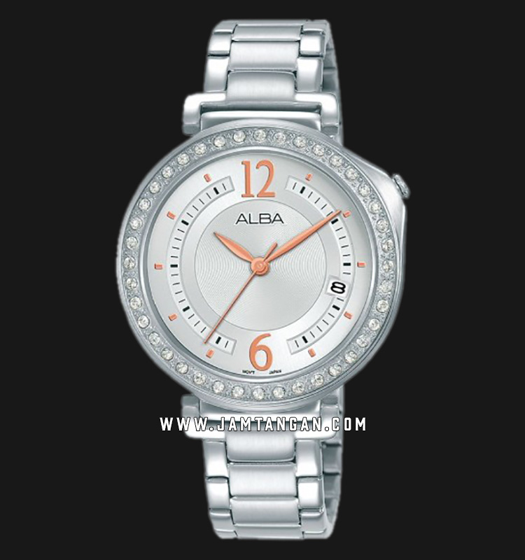 Alba AG8K11X1 Silver Dial Stainless Steel Strap Machtwatch