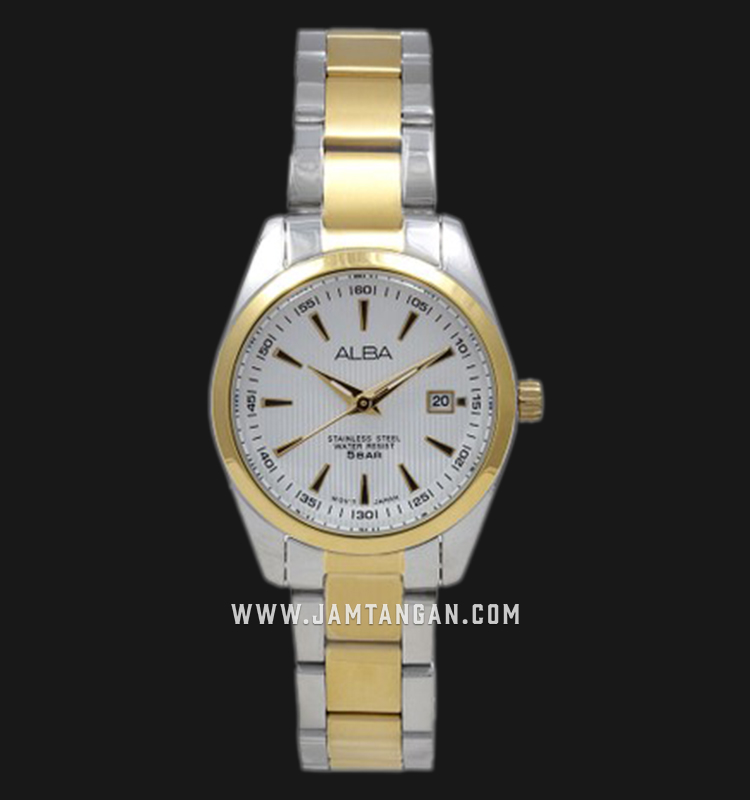 Alba AH7A28X1 Ladies Silver Dial Dual Tone Stainless Steel Strap Machtwatch