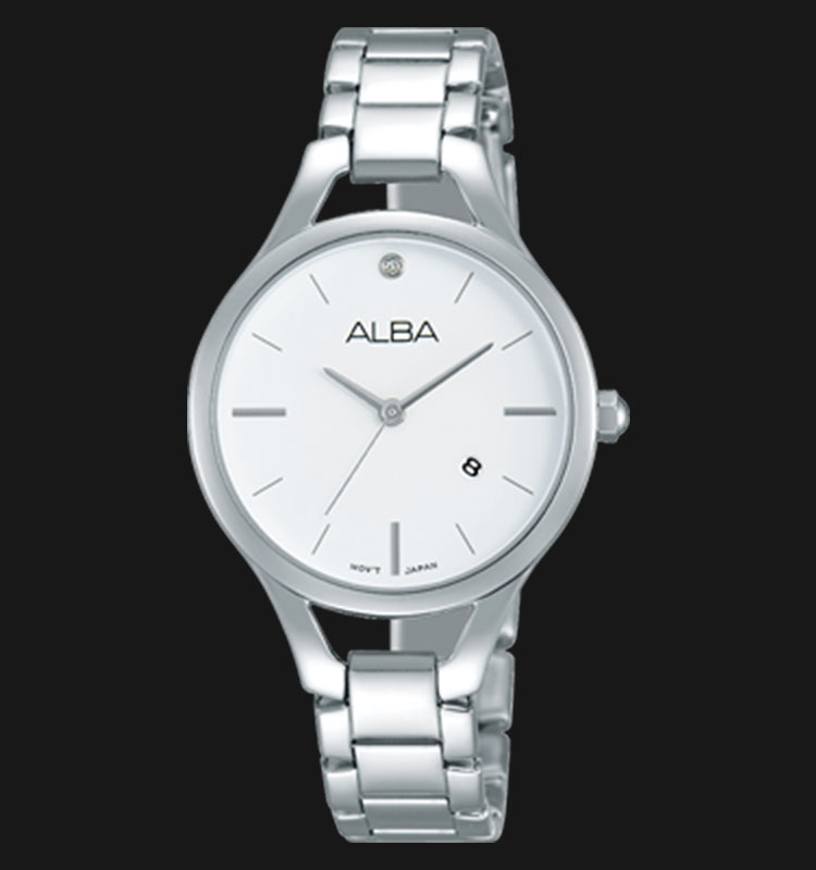 Alba AH7F23X1 White Dial Stainless Steel Bracelet Machtwatch