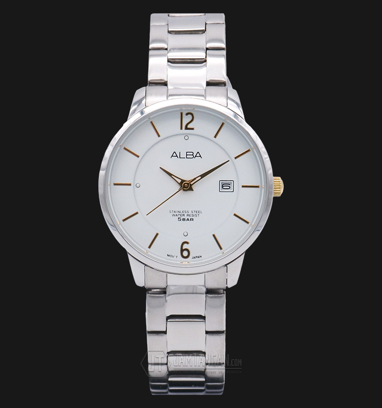 Alba A-AH7F53X1 White Dial Stainless Steel Bracelet Machtwatch