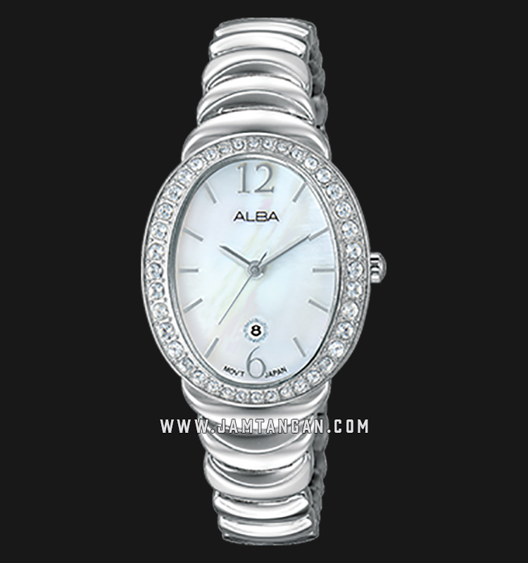 Alba AH7L51X1 Mother of Pearl Dial Stainless Steel Machtwatch