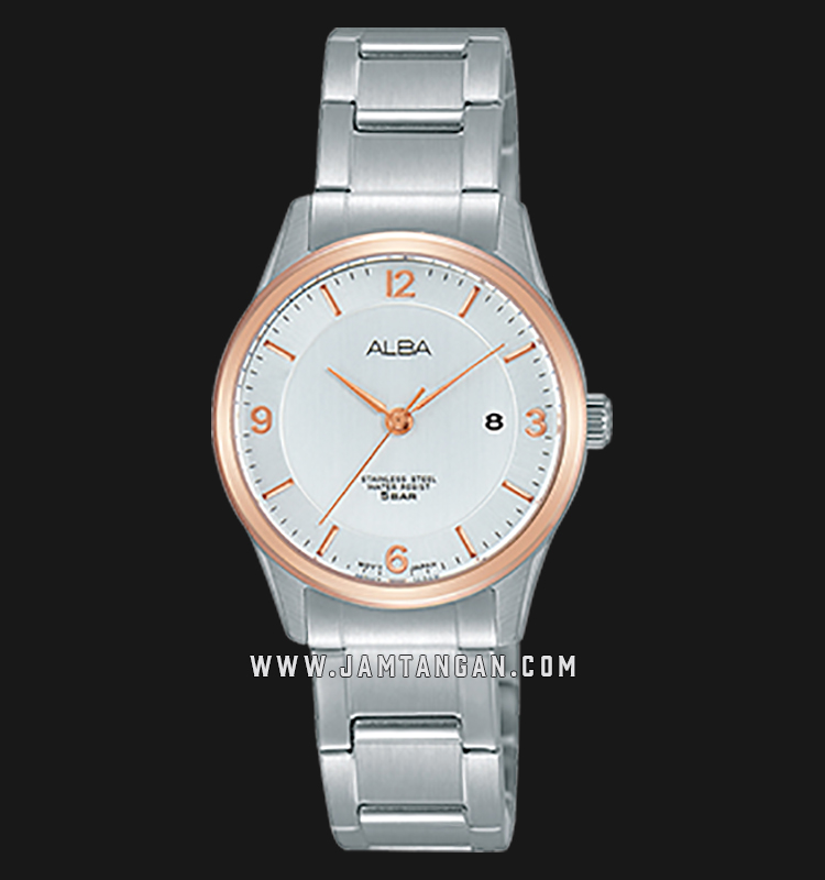Alba AH7L72X1 Silver Dial Stainless Steel Machtwatch