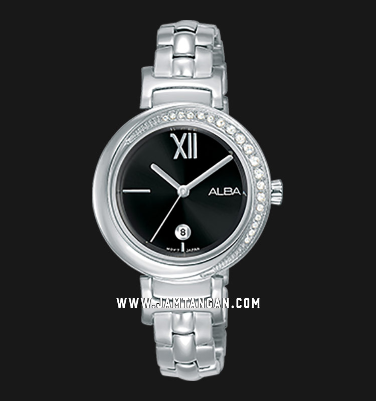Alba AH7R79X1 Ladies Black Dial Stainless Steel Strap Machtwatch
