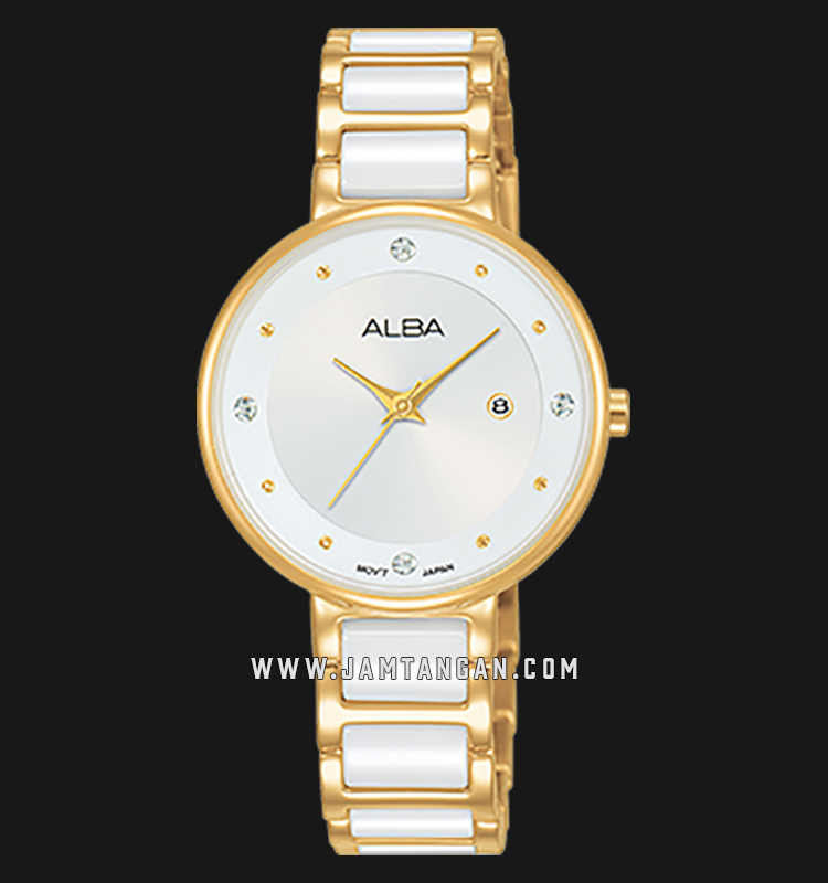 Alba AH7R90X1 Silver Dial Dual Tone Stainless Steel Machtwatch