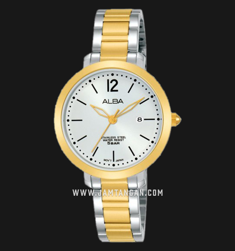 Alba AH7S94X1 Ladies Silver Dial Dual Tone Stainless Steel Strap Machtwatch