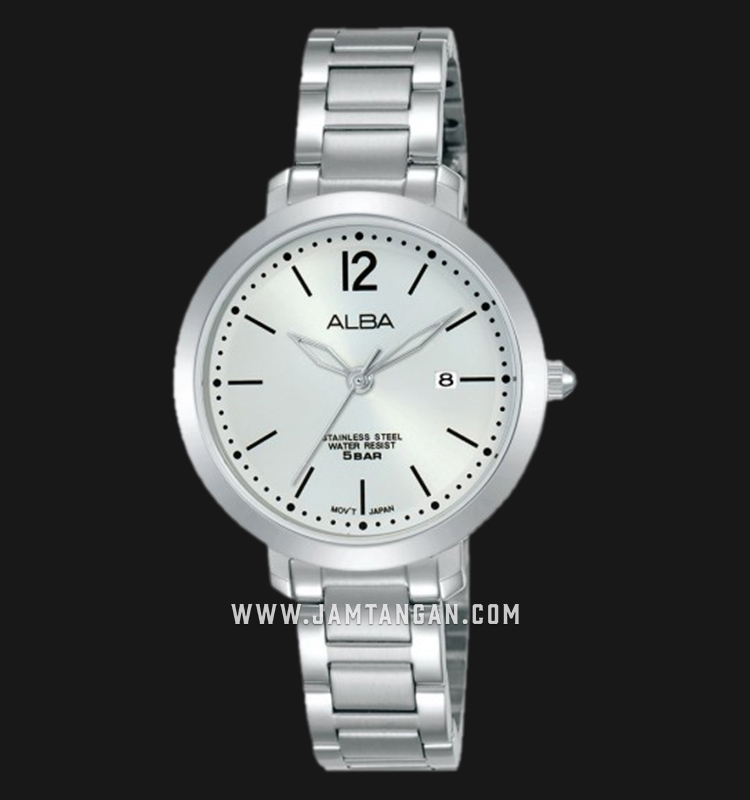 Alba AH7S99X1 Ladies Silver Dial Stainless Steel Strap Machtwatch
